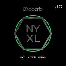 D'Addario NYNW070 NYXL Nickel Wound Electric Guitar Single String, .070