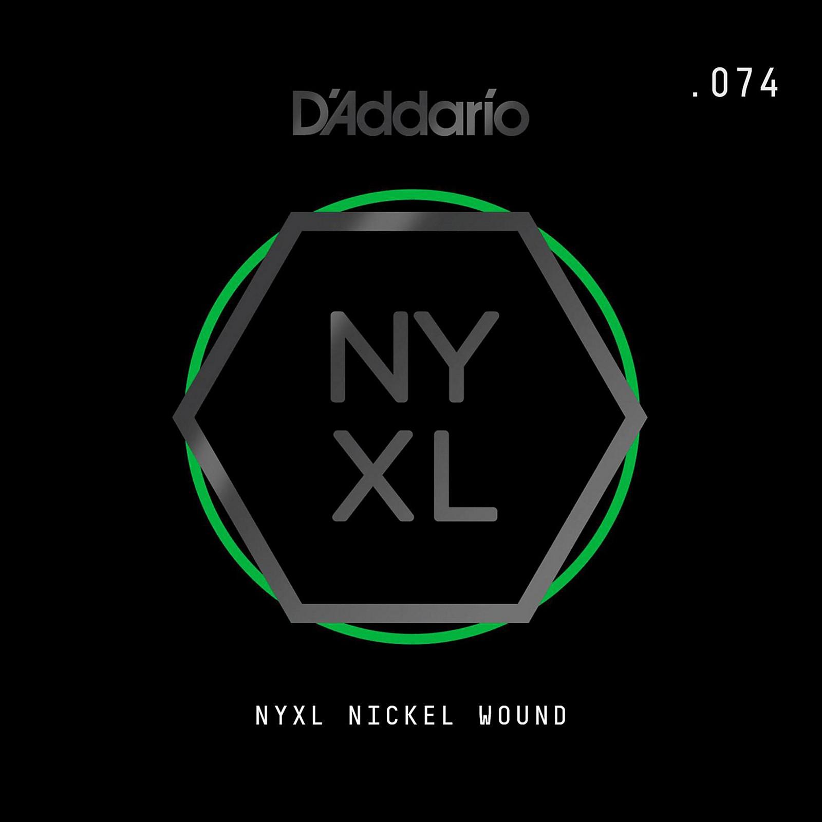 D'Addario NYNW074 NYXL Nickel Wound Electric Guitar Single String, .074