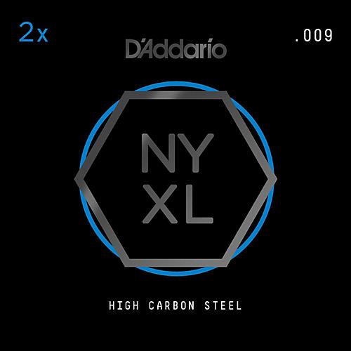 D'Addario NYPL009 Plain Steel Guitar Strings 2-Pack, .009