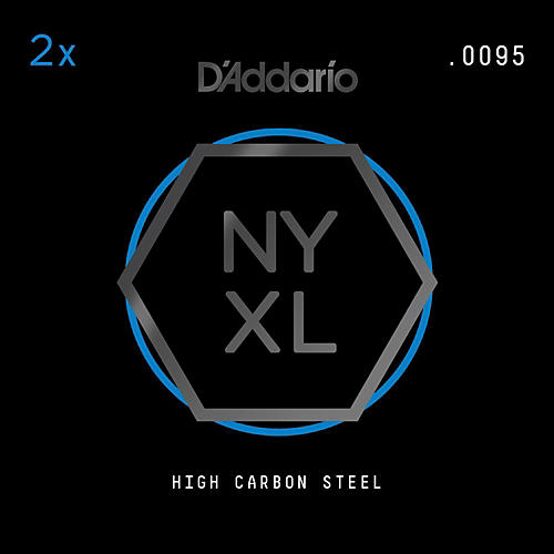 D'Addario NYPL0095 Plain Steel Guitar Strings 2-Pack, .0095