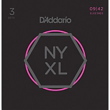 D'Addario NYXL0942 Super-Light 3-Pack Electric Guitar Strings