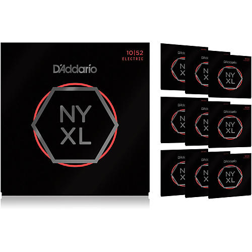 D'Addario NYXL1052 Light Top/Heavy Bottom 10-Pack Electric Guitar Strings