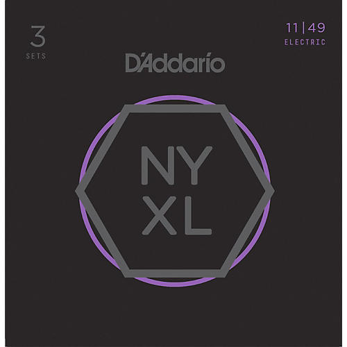 D'Addario NYXL1149 Medium 3-Pack Electric Guitar Strings