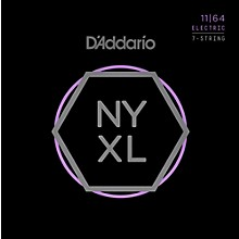 D'Addario NYXL1164 7-String Medium Nickel Wound Electric Guitar Strings (11-64)