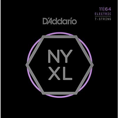 D'Addario NYXL1164 7-String Medium Nickel Wound Electric Guitar Strings (11-64)