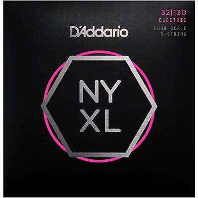 D'Addario NYXL32130 Gauge 6-String Long Scale Electric Bass Strings
