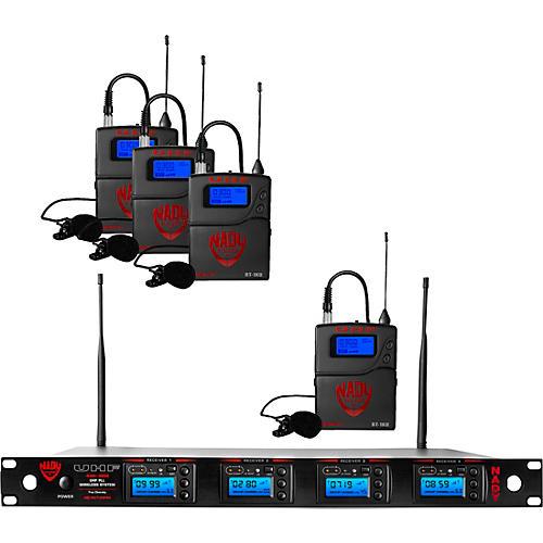 Nady Nady 4W-1KU-LT, 1000-channel Professional Lavaliere/Lapel Wireless System Band 1