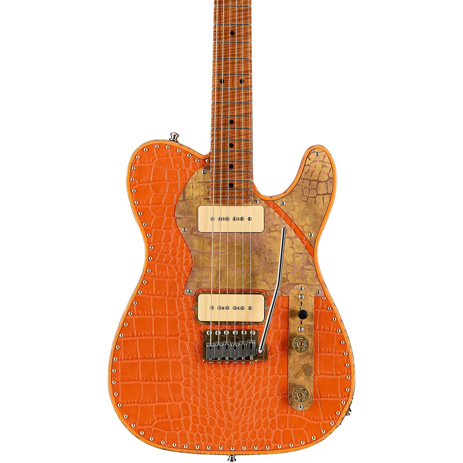 Paoletti Guitars Nancy Leather Top 2 P-90 Electric Guitar