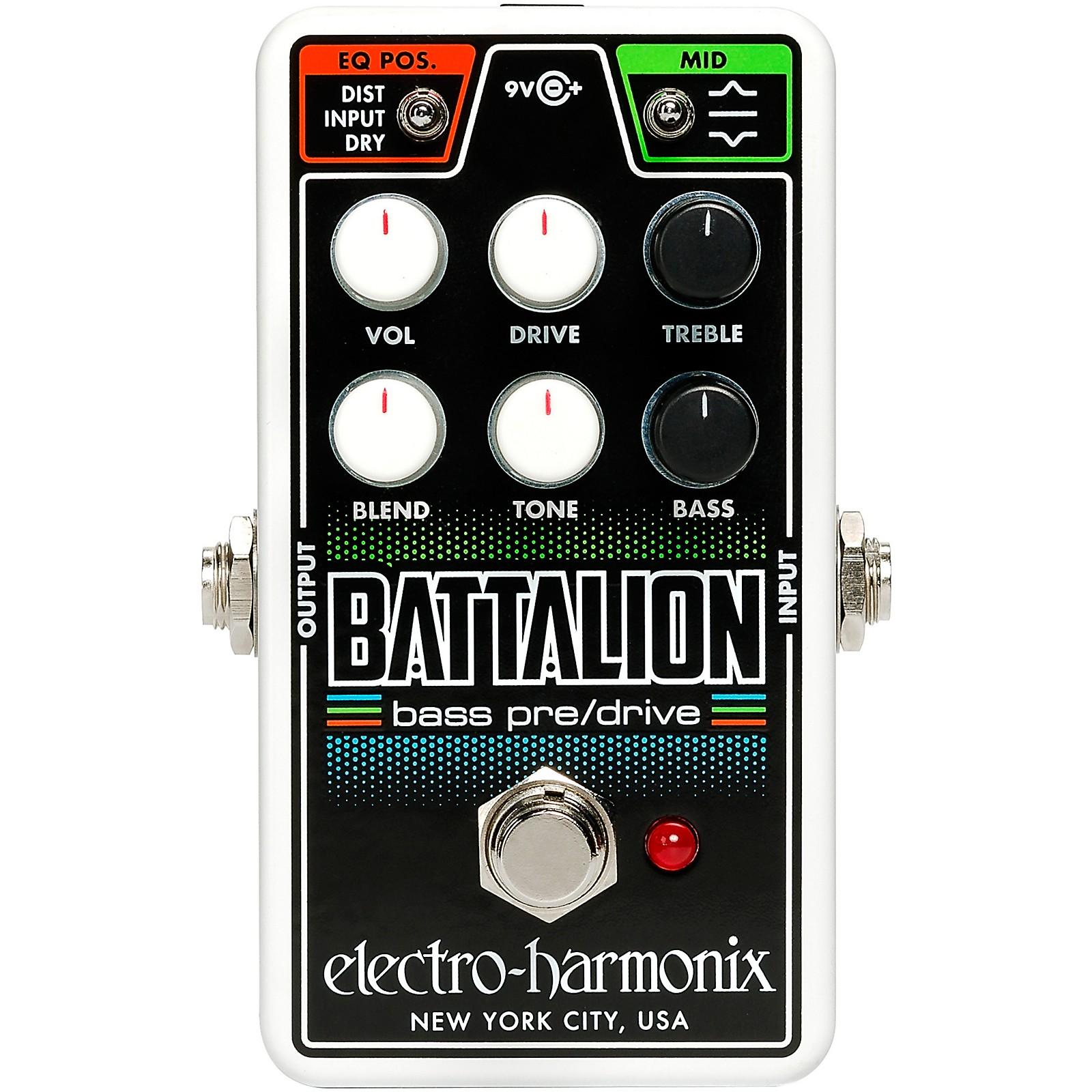 Electro-Harmonix Nano Battalion Bass Preamp & Overdrive Effects Pedal