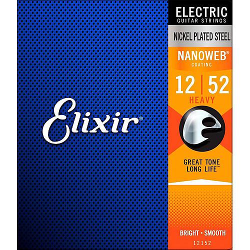Elixir Nanoweb Heavy Electric Guitar Strings 2 Pack