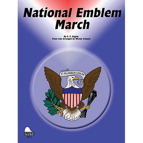 SCHAUM National Emblem March Educational Piano Series Softcover