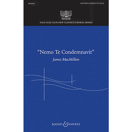 Boosey and Hawkes Nemo te condemnavit SATB a cappella composed by James MacMillan