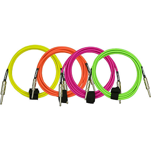 DiMarzio Neon Overbraid Instrument Cable