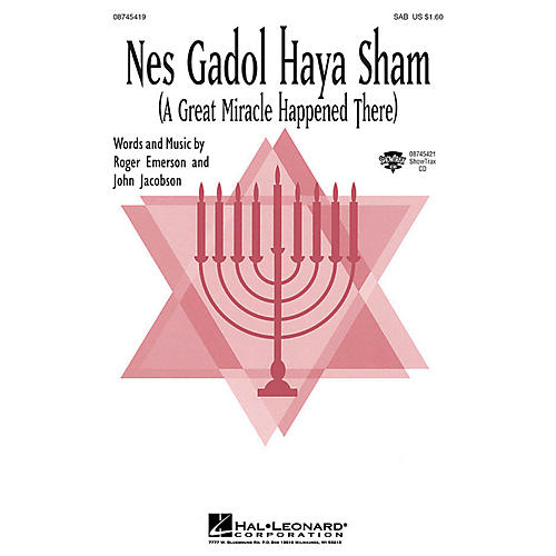 Hal Leonard Nes Gadol Haya Sham (A Great Miracle Happened There) SAB by John Jacobson, Roger Emerson