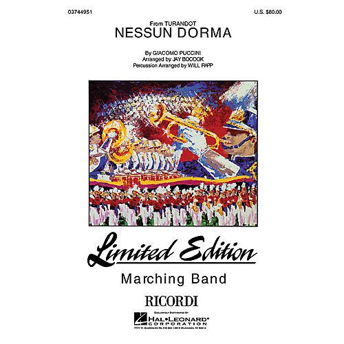 Nessun Dorma Lyrics Sheet Music: Hal Leonard Nessun Dorma Marching Band Level 4-5 Arranged