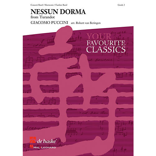 Hal Leonard Nessun Dorma Score Only Concert Band