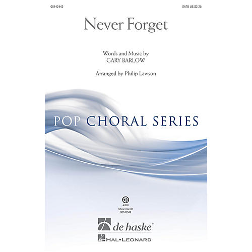 De Haske Music Never Forget (ShowTrax CD) ShowTrax CD Arranged by Philip Lawson