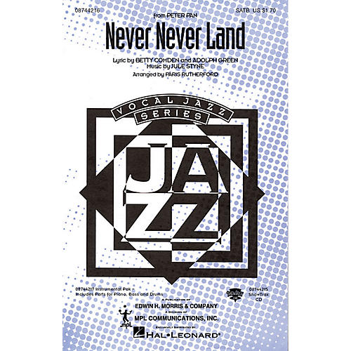 Hal Leonard Never Never Land SATB arranged by Paris Rutherford