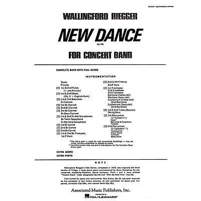 Associated New Dance for Band, Op. 18b (finale) (Full Score) Concert Band Composed by Wallingford Riegger