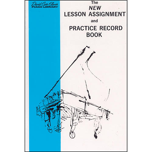 Alfred New Lesson Assignment and Practice Record Book