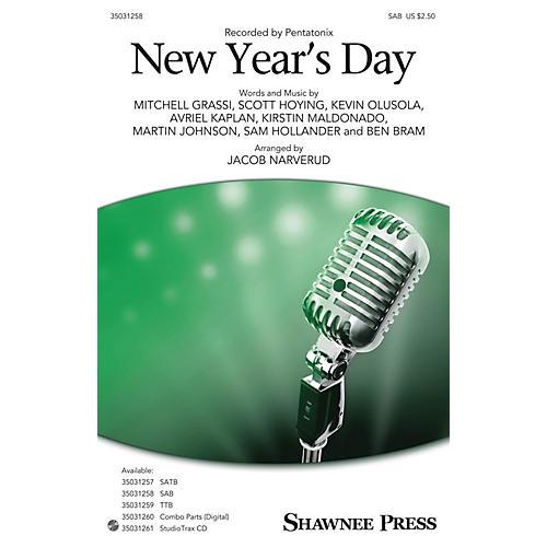 Hal Leonard New Year's Day SAB by Pentatonix arranged by Jacob Narverud