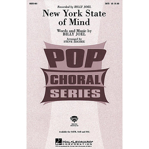 Hal Leonard New York State of Mind (SAB) SAB by Billy Joel Arranged by Steve Zegree