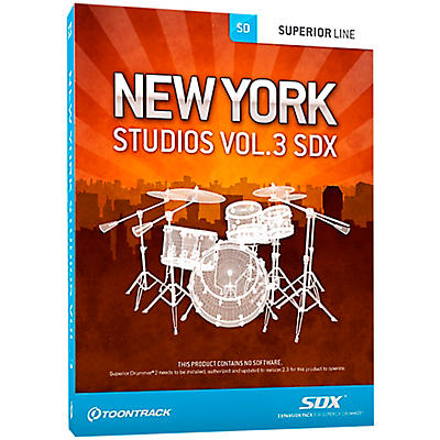 Toontrack New York Studios Vol.3 SDX
