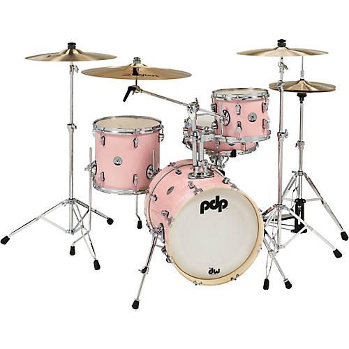 PDP by DW New Yorker 4-Piece Shell Pack w/ 16 in. Bass Drum Pale Rose Sparkle
