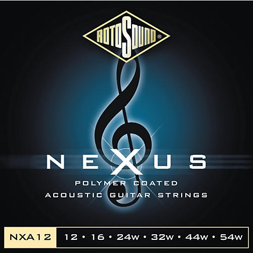 Rotosound Nexus Polymer Medium Light Coated Acoustic Strings