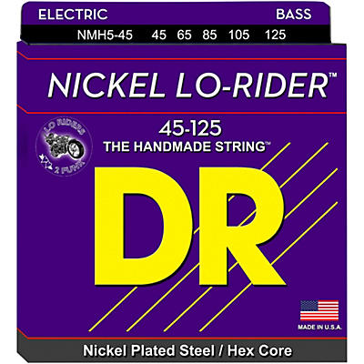 DR Strings Nickel Medium Lo-Riders 5-String Bass Strings