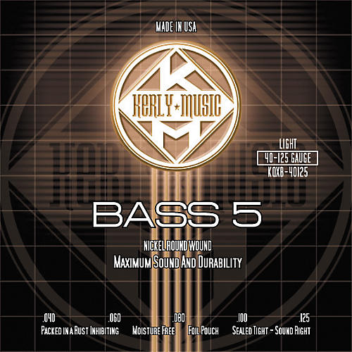 Kerly Music Nickel Plated 5-String Bass Strings Light