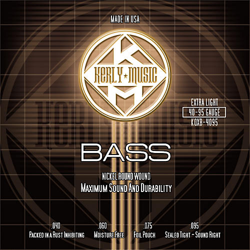 Kerly Music Nickel Plated Bass Strings Extra Light