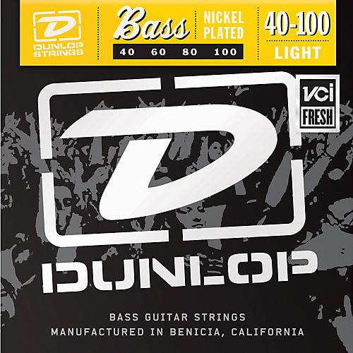 Dunlop Nickel Plated Steel Bass Guitar Strings - Light