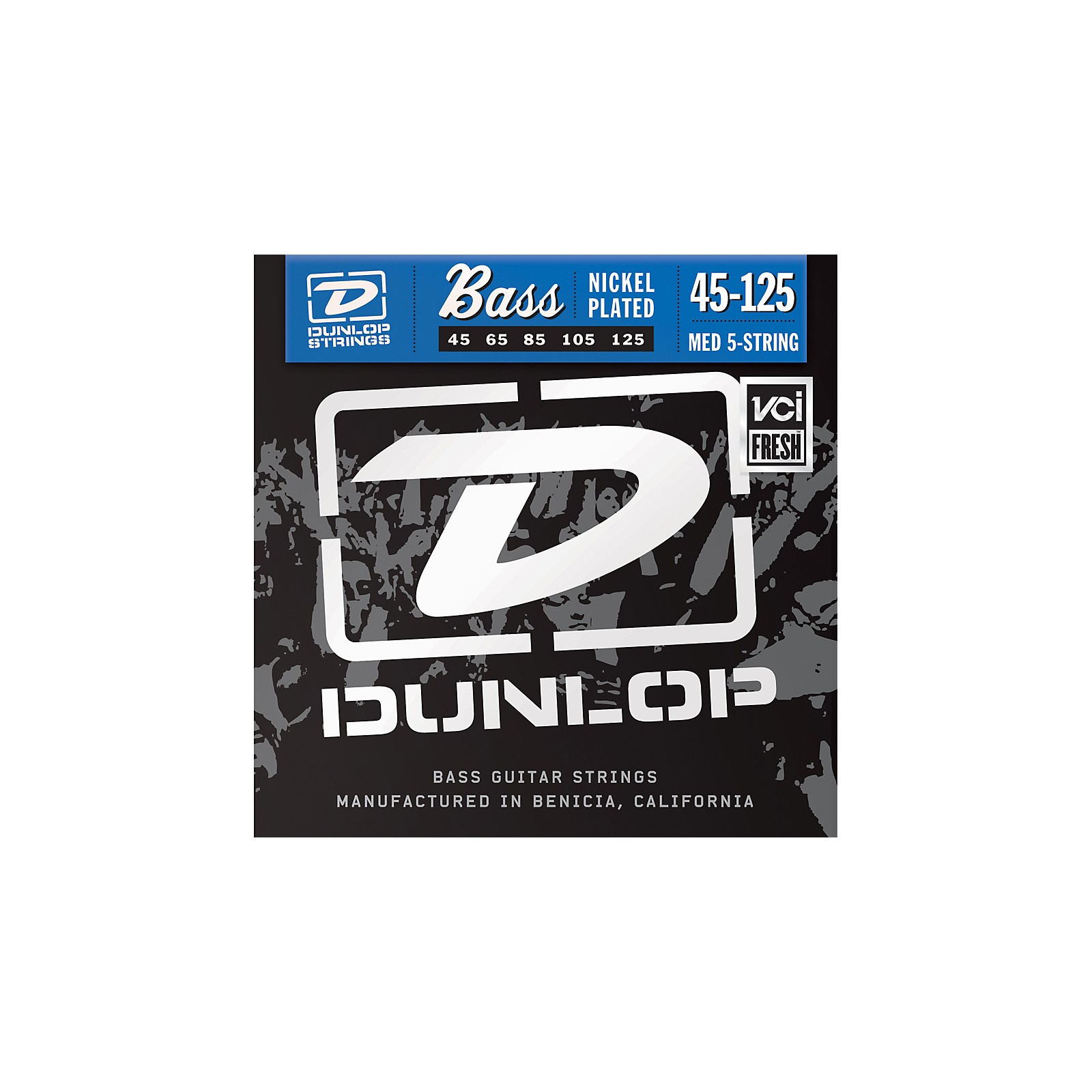 Dunlop Nickel Plated Steel Bass Strings - Medium 5-String