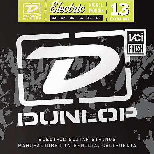 dunlop nickel plated steel electric guitar strings extra heavy musician 39 s friend. Black Bedroom Furniture Sets. Home Design Ideas