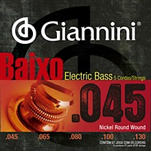 Giannini Nickel Round Wound Regular Light .45-.130 5 String Electric Bass Set