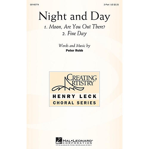 Hal Leonard Night and Day 2PT TREBLE composed by Peter Robb