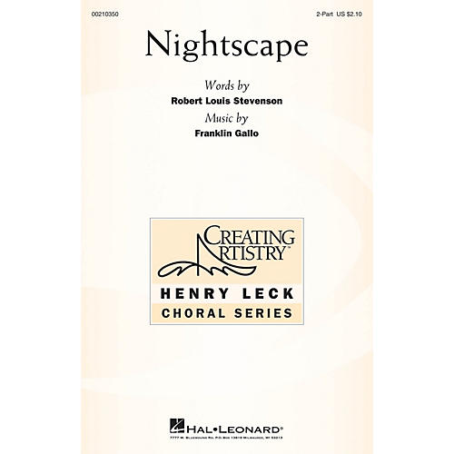 Hal Leonard Nightscape 2-Part composed by Franklin Gallo
