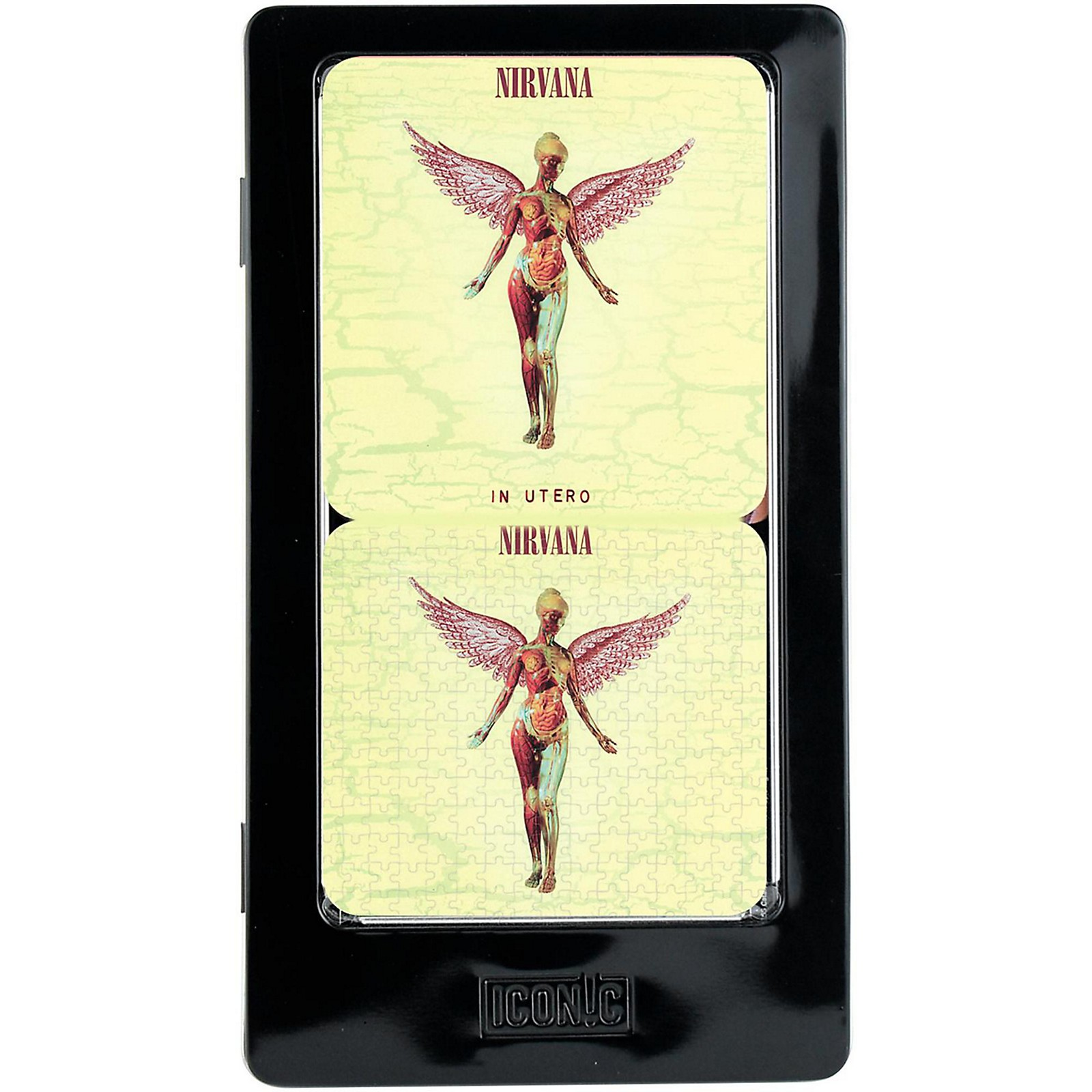 Iconic Concepts Nirvana In Utero Metal Coaster Set with Cork Backs in Tin Gift Box