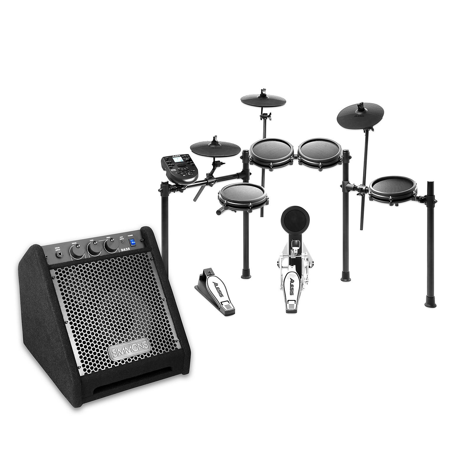 Alesis Nitro Mesh Electronic Drum Set with DA25 Amp