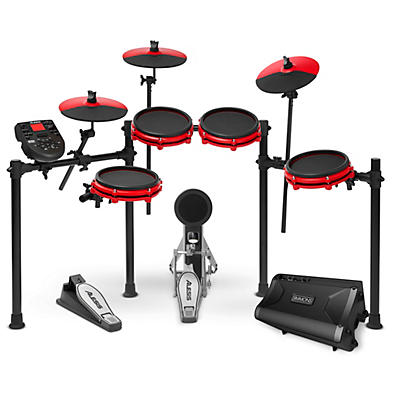 Alesis Nitro Mesh Special Edition Electronic Drum Kit With Mesh Pads and Simmons DA2108 Drum Set Monitor