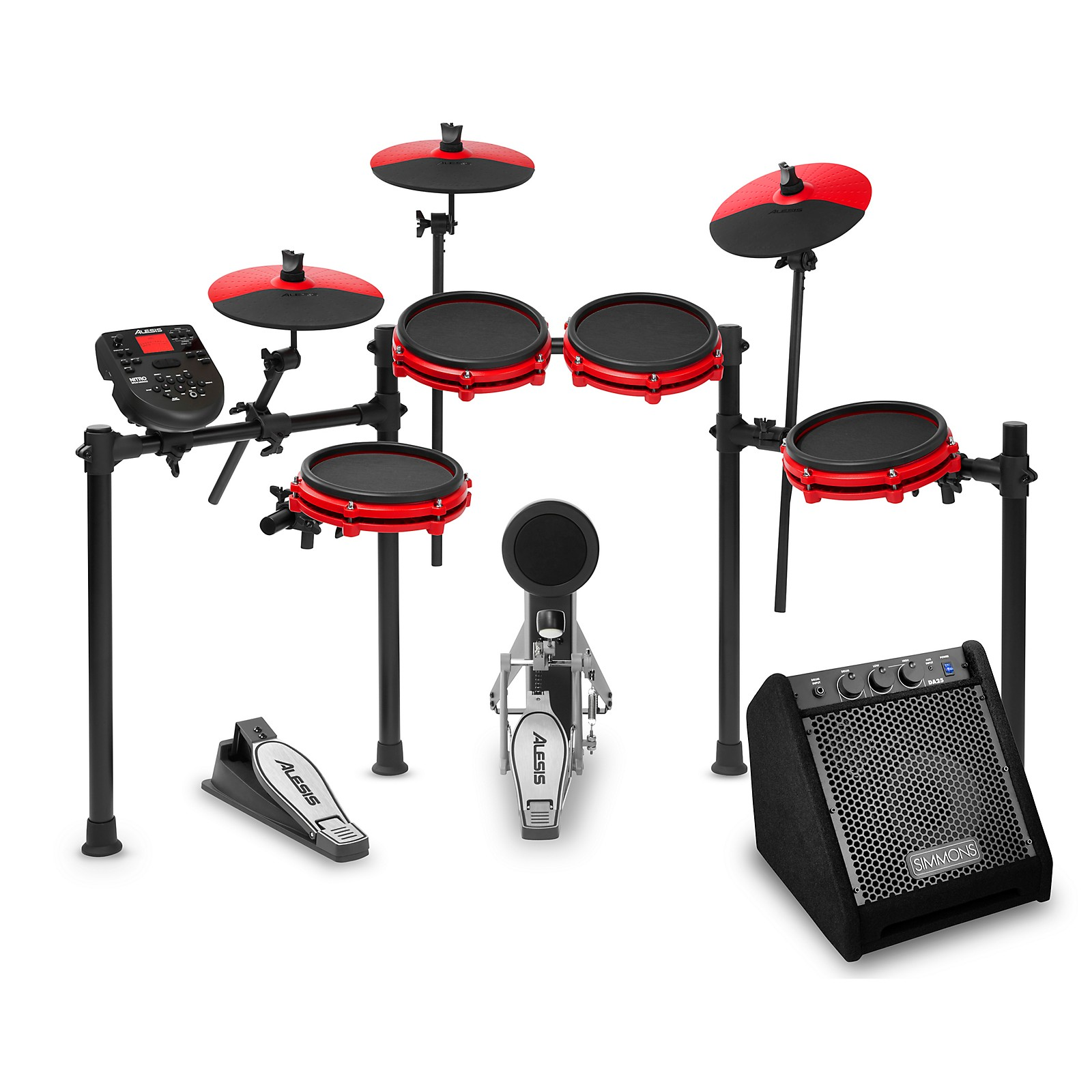 Alesis Nitro Mesh Special Edition Electronic Drum Set with Simmons DA25 Amp