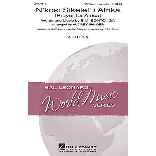 Hal Leonard N'kosi Sikelel' I Afrika (Prayer for Africa) SATB arranged by Audrey Snyder