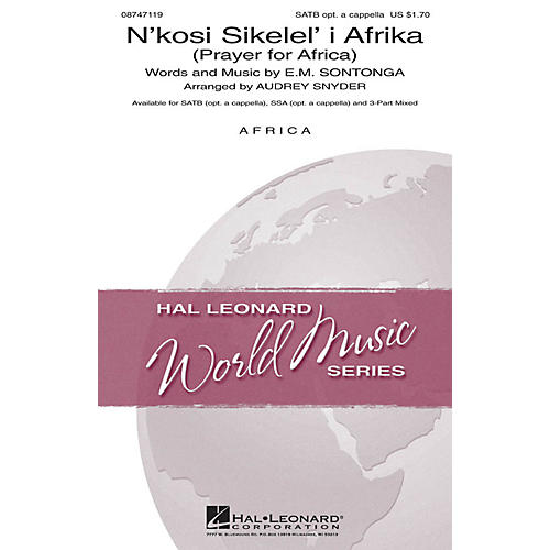 Hal Leonard N'kosi Sikelel' I Afrika (Prayer for Africa) SSA Optional a cappella Arranged by Audrey Snyder