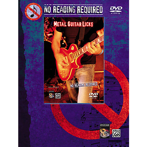 Alfred No Reading Required: Metal Guitar Licks DVD