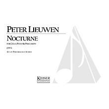 Lauren Keiser Music Publishing Nocturne (for Cello, Piano and Percussion) LKM Music Series Composed by Peter Lieuwen