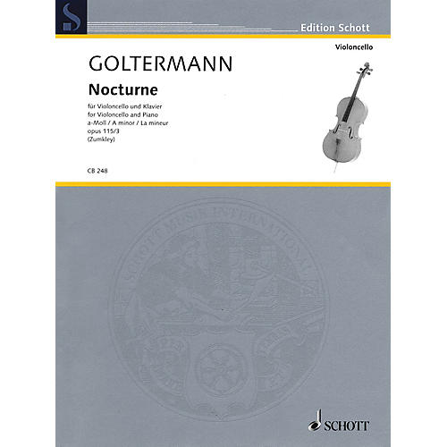 Schott Nocturne in A minor, Op. 115/3 (Violoncello and Piano) String Series Softcover