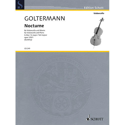 Schott Nocturne in G Major, Op. 125, No. 1 (Violoncello and Piano) String Series Softcover