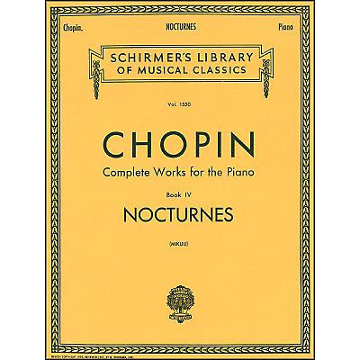 G. Schirmer Nocturnes Book 4 Piano By Chopin