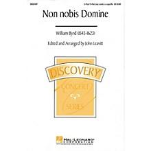 Hal Leonard Non Nobis Domine (2-Part/3-Part a cappella) 2 Part / 3 Part A Cappella arranged by John Leavitt